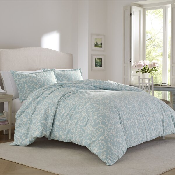 Kensington Scroll 100% Cotton Reversible Comforter Set by Laura Ashley Home by Laura Ashley Home